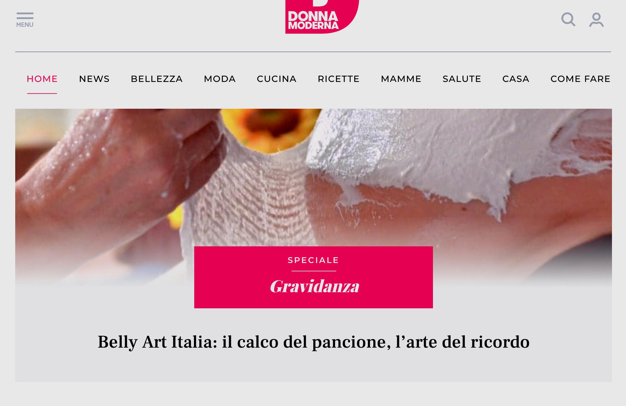 Donna Moderna consiglia Belly Art Italia come luogo d\'eccezione ...
